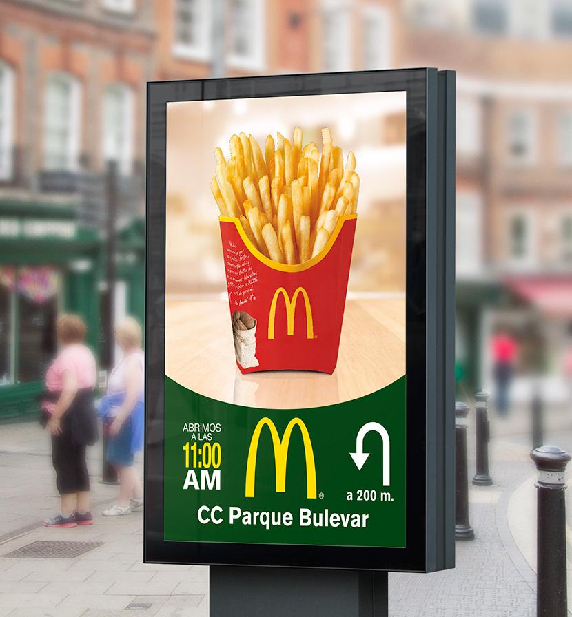 McDonald's: mobiliario urbano