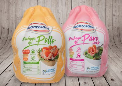 Montesano: Packaging pechuga de pollo/pavo