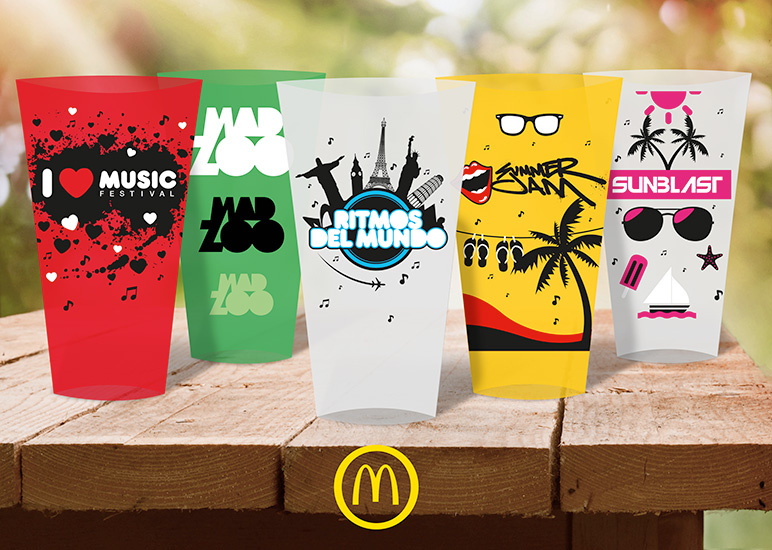 McDonald's: Vasos festivales
